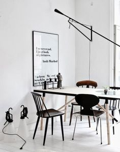 Interior design trends this season are all about effortless elegance, natural materials, added dimension & texture. Here are the top design trends for Decor Interior Design, Interior Styling, Interior Decorating, White Wood, Black White, White Walls, Design Scandinavian, Chair Design Wooden, Estilo Interior