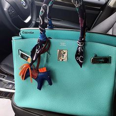 Beautiful HERMÈS Birkin Bag, HERMÈS Twilly & HERMÈS Rodeo Charm Bag
