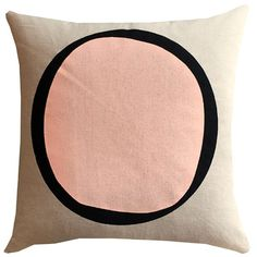 The blushing peaching pink is so perfect on this little cushion. Hand screen printed goodness right here in Australia. Search 'pillow cover peach agnes ' on dtll.com.au or click on the shopable link in our profile. #dtll #downthatlittlelane