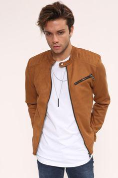 872daf445edc1 Kadın ve Erkek Giyim Online Alışveriş Sitesi sa. Fermuar Detay Taba Süet  Erkek Ceket