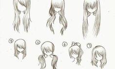 how to draw manga hair - Tìm với Google
