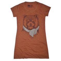 Camiseta feminina RED PANDA, modelagem longa