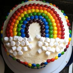 Rainbow first birthday :) m and marshmallows or skittles work for rainbow colors or cookies/cupcakes