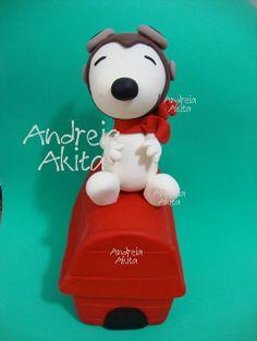 30/07 - Topo de bolo - Snoopy Aviador 35 cm !! by Andreia Akita, via Flickr