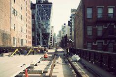 High Line Park under construction, New York