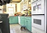 2 Tone Kitchen Cabinets - what do we think about teal cabinets on bottom and white on top, or darker teal on bottom and lighter on top?