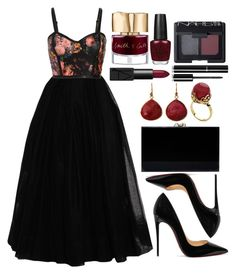 """""""Untitled #4299"""" by natalyasidunova ❤ liked on Polyvore featuring Martin Grant, Christian Louboutin, Charlotte Olympia, NARS Cosmetics, Smith & Cult, OPI and Chanel"""