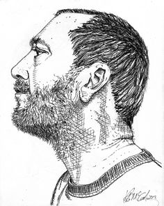me--the artist, self-portrait pen and ink | Flickr - Photo Sharing!