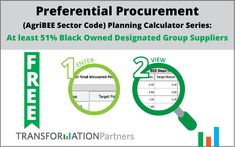 Preferential Procurement Planning Calculator Series (AgriBEE Sector Code): At least Black Owned Designated Group Suppliers – Transformation Talk Calculator, Software, At Least, Bee, Coding, Group, Black, Design, Honey Bees
