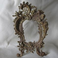 SOLD.....Antique 19thC French Rococo Bronze Mirror, Picture Frame, Cherub Angel & Dolphin