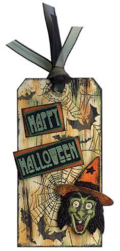 Jenni Bowlin Dabber and Dye Ink Halloween Tag