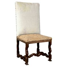 Lillian August French walnut side chair, c. 1730