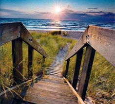 Lake Michigan - staircase to the sea