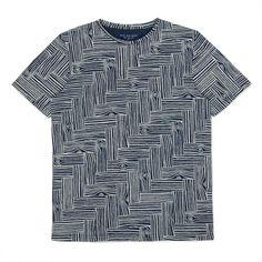 Paul Smith Men's T-Shirts | Indigo Woodcut Print T-Shirt