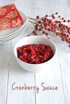 Easy from scratch Cranberry Sauce recipe perfect for your Thanksgiving and Christmas Dinner.