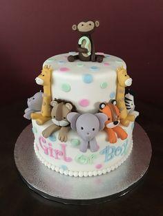 Gender Reveal Cake Baby Shower Gender Reveal, Shower Cakes, Bridal Shower, Desserts, Ideas, Food, Shower Party, Tailgate Desserts, Deserts
