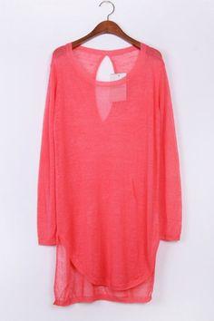 Cutout High-low Sweater OASAP.com
