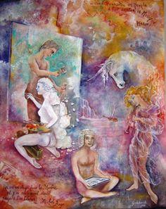 inspiration  partagée (Peinture),  130x162 cm par Christian    Eprinchard