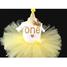 First Birthday outfit, Yellow outfit for first birthday, my sunshine outfit, Birthday girl, smash cake outfit, Yellow tutu. by GABYROBBINSDESIGNS on Etsy
