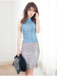 レースペンシルスカート(タイトスカート) Color(カラー) ファッションウォーカー