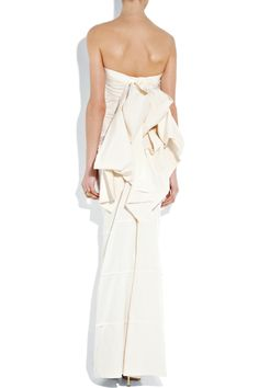 Lanvin | Bow-back washed-radzmir gown | NET-A-PORTER.COM