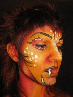 Face painting by Laura Tevar for my final project in Stick Art Studio. 2004/05 Barcelona (Spain)