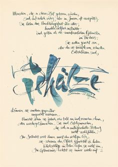 Claus Dorsch is a calligraphy artist, specialized in silkscreen print