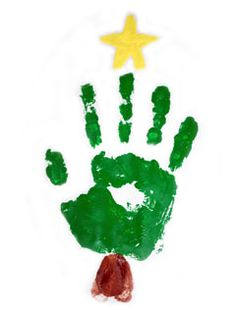 christmas tree handprint .. Doing this with my pre-k !!!