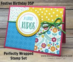 Simple cards made using Stampin' Up! FESTIVE BIRTHDAY DSP. All the details are on the blog! Created by Jackie Bolhuis, Stampin' Up! Demonstrator. 100's of StampinUp card ideas on blog.