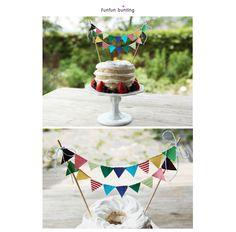 funfunフラッグ ケーキ バンティング 可愛いケーキデコレーション