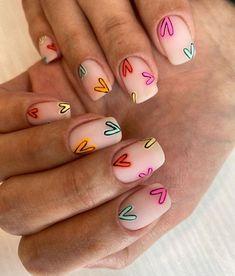 Minimalist Nails, Hair And Nails, My Nails, Nail Manicure, Manicures, Nail Design Glitter, Nails Design, Square Nail Designs, Nail Designs Floral