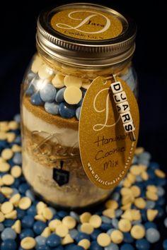 Hanukkah Cookie Mix Mason Jar Cookie Mix