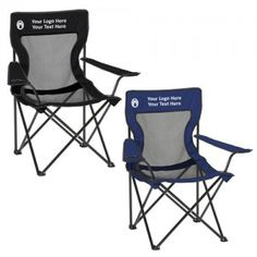 Promotional Logo Poly-Oxford Coleman Folding Chairs