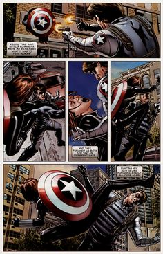 Bucky vs Natasha from Captain America #27
