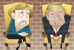 Merkel Trump snub