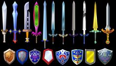 Zelda Swords and Shields 2 by ~Doctor-G