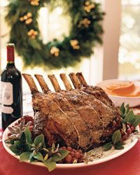 Salt-and-Pepper-Crusted Prime Rib with Sage Jus ~ Christmas dinner? Beef Rib Roast, Prime Rib Roast, Beef Loin, Rib Recipes, Cooking Recipes, Christmas Roast, Xmas, Standing Rib Roast, Table D Hote
