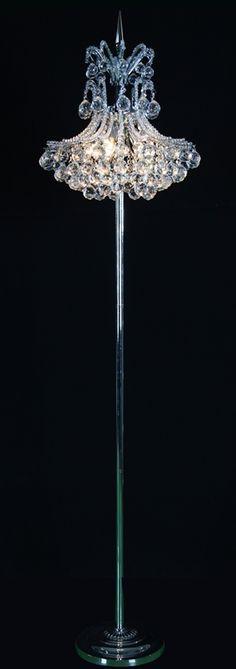 @bethelintl - C&D 4D, 4G, Floor lamp with clear crystals #DesignOnHPMkt #HPMKT #lighting #homedecor