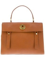 Yves Saint Laurent Muse Two Satchel in Brown
