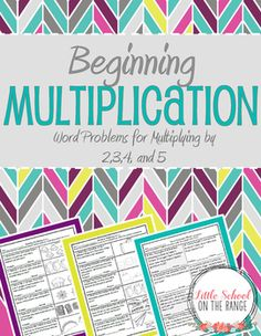 Looking for a way to introduce your students to multiplication? This FREEBIE is a sample of my complete unit. The complete unit is a fantastic way to present multiplication to your students by using word problems! It covers multiplying by 2,3,4, and 5.