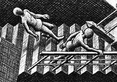 -by M.C. Escher...look at this picture...the staircase.