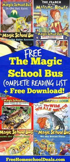 The Magic School Bus series covers so many subjects and is an awesome way to introduce things to your kids. Here is a Free Magic School Bus Reading List! Science Lessons, Teaching Science, Science For Kids, Science Activities, Teaching Reading, Science Ideas, Reading School, Library Activities, Science Kits