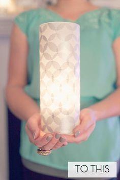 How To: Make Elegant Tissue Paper Covered Luminaries #DIY