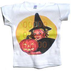 Vintage Childrens tshirt Halloween by CottonLaundry on Etsy, $18.00