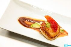 Top Chef Master's Jennifer Jasinski claimed ketchup Quickfire victory with this dish: scallop with ketchup sauce, fermented black beans, avocados, and blood orange. Ketchup Sauce, Chef Recipes, Blood Orange, The Dish, Black Beans, Preserve, Avocado, Good Food, Culture