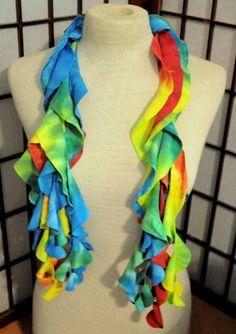 twirly tye dye t shirt scarf