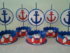 Sailor Baby Showers, Anchor Baby Showers, Baby Boy Shower, Nautical Birthday Cakes, Nautical Party, Sailor Birthday, Baby Boy 1st Birthday, Sailor Theme, Baby Shawer