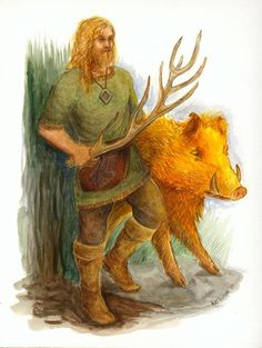 Freyr, the ruler of Alfheim (realm of the elves), is the god of sun and rain, virility, fertlility and the patron of bountiful harvests. He is both a god of peace and a brave warrior.  Freyr is the most prominent and most beautiful of the male members of the Vanir.