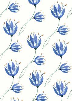 Bluebells on a Blue Sunday by Katy Jean (Katey-Jean Illustration)
