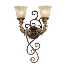 View the Elk Lighting 2155/2 Two Light Wallchiere from the Regency Collection at LightingDirect.com.
